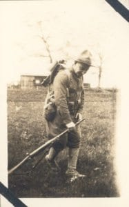 Mortimer took this photo of a fellow soldier during training at Fort Sheridan.