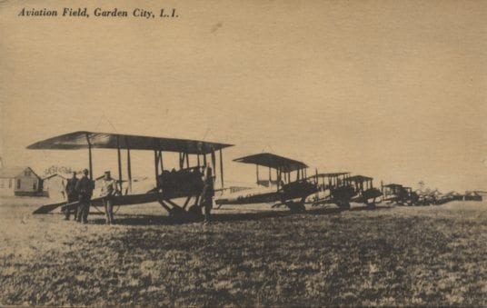 A photo postcard from Garden City, Long Island, where Mortimer was stationed when he wrote this letter.