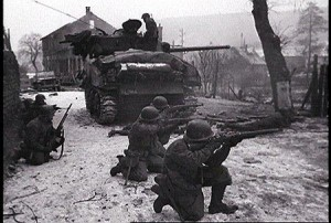 Americans in action during Operation Nordwind.