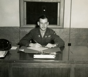 Lt. Martin strikes a pose similar to his father's while the Aide-de-camp to Brigadier General Kurtz, April 1946.