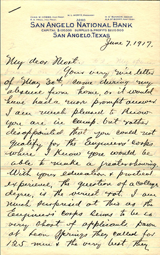 Lawrence also received mail. This letter from his Uncle Mort—his namesake—was also written on June 7.