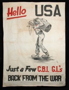hip banner painted by John Vlossak upon his return home in 1946 (Wisconsin Veterans Museum V1993.88.1)