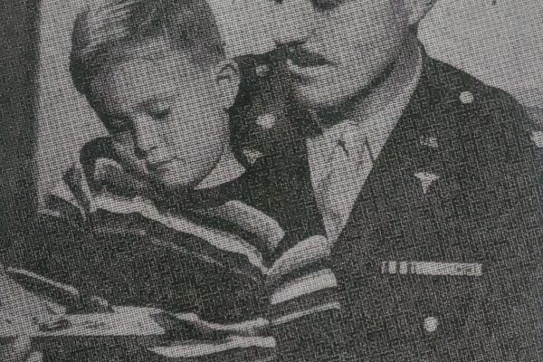 Lt Col Hollenbeck and son