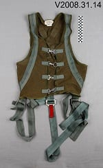Photo of helicopter flight chief harness