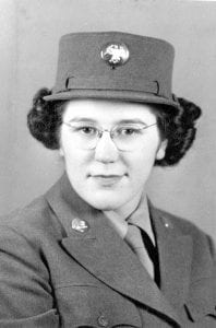 WVM.0155.I015e – Plain, Wisconsin native Theresa Dischler (later Brown) enlisted early on in the WAAC and served as a photo technician and supply sergeant from 1942-1943.