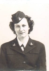 WVM.0698.I001 – Jane I. Chapman (later Armstrong) of Madison, Wisconsin enlisted in the WAVES in 1943, and served as a Yeoman First Class during World War II.