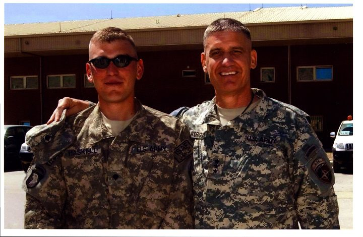 SPC Todd W. Haskell And LTG David M. Rodriguez