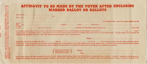 Solien war ballot affidavit